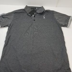 Slim Horse Embroidered - Gray XXL Polo Shirt